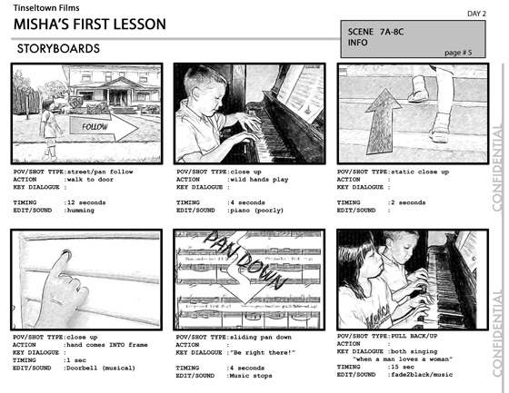 Storyboards & Printing Options